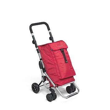 Foppapedretti GO UP 9702000300-Carrito de la Compra, Color, Compuesto, Rojo, 63x41x27 cm: Amazon.es: Hogar