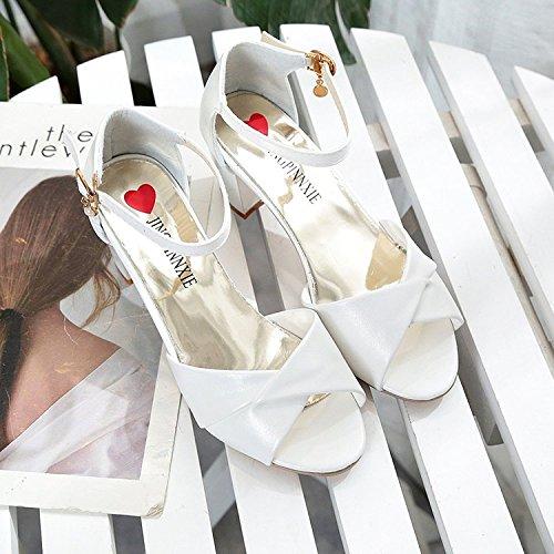 Con Mujer Verano Zapatos Y Correa Paquete GAOLIM Gruesa Paquete Correa Para La 1ecaed