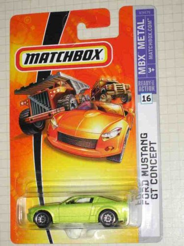 - 2007 -#16 Ford Mustang GT Concept 1:64 Scale Collectible Die Cast Car Model by Matchbox