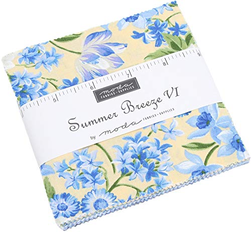 Summer Breeze VI Charm Pack by Moda Classics; 42-5 Inch Precut Fabric Quilt Squares