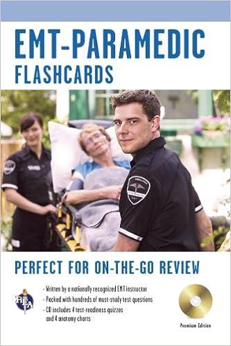 EMT-Paramedic Premium Edition Flashcard Book w/CD (EMT Test ...