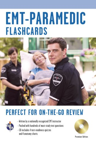 EMT-Paramedic Premium Edition Flashcard Book w/CD (EMT Test Preparation)