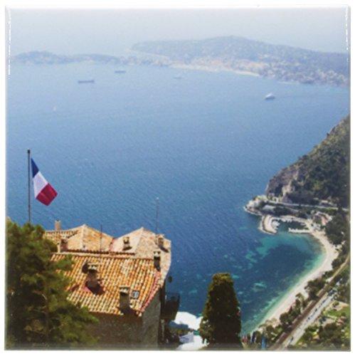 3dRose cst_81689_3 Ezevillage and Cap Ferrat, Cote Dazur, France Eu09 Spi0196 Sergio Pitamitz Ceramic Tile Coasters, Set of - Ferrat Riviera Cap
