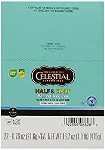 Celestial Seasonings Half and Half Perfect Iced Tea, K-Cup Portion Pack for Keurig K-Cup Brewers, 22-Count