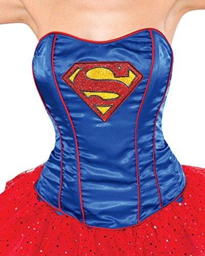 Superwoman Costumes Teen (Rubie's Women's Corset, Supergirl, Medium/Large)