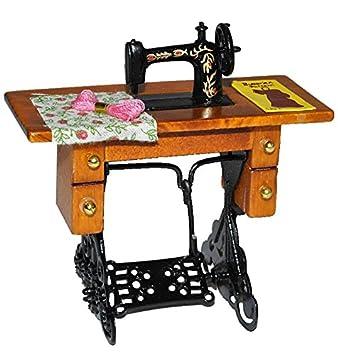 Miniatur Nähmaschine Mit Tisch   Für Puppenstube Maßstab 1:12    Nähmaschinentisch Puppenhaus Puppenküche Klein
