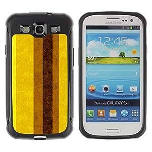 "Hypernova Defender Series TPU protection Cas Case Coque pour Samsung Galaxy S3 III I9300 [Tierra Brown amarillas Líneas Rayas""]"