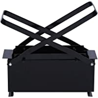 DIY Recycle Newspaper Briquette Maker Iron Paper Log Brick Heavy Duty Briquette Maker for Heating Fire Stove Home Tool