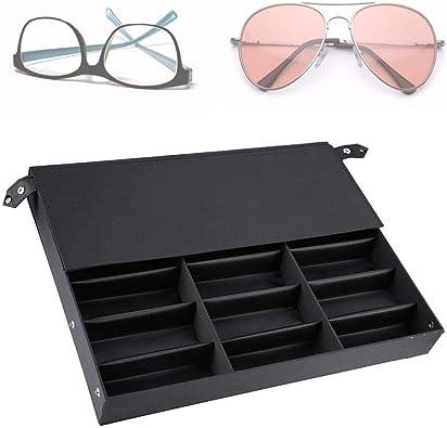 Caja de Almacenamiento de Gafas Caja de Almacenamiento de Lentes de 18 Rejillas, Caja de exhibición de Lentes Organizador de Lentes de Gafas Soporte para exhibición de Lentes: Amazon.es: Joyería