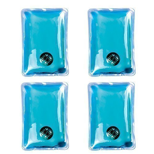 Handwärmer Gel Sofortwärme 4er Pack Wiederverwendbare Handwärmer Wärmer - Plastik, Blau