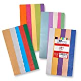 "110 Pack Acid Free Tissue Paper - 20"" x 26"" - Solid, Bright Colored; Bulk; 20 Assorted Colors as Listed in Description"