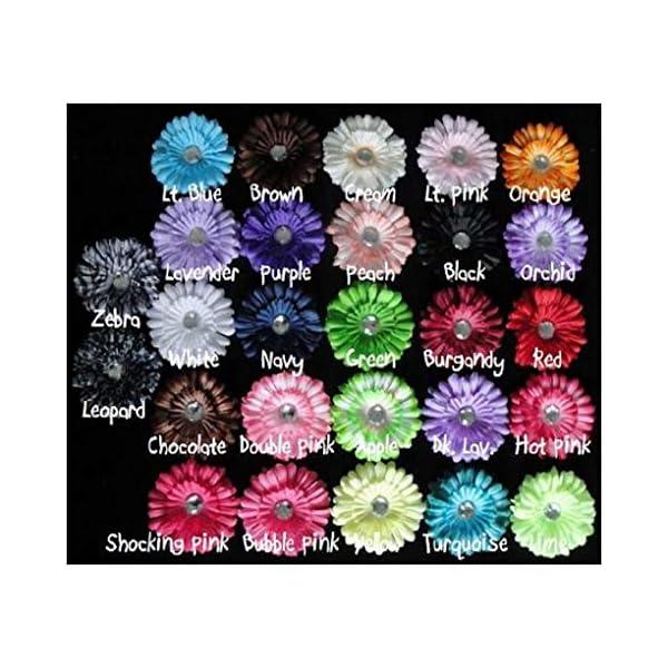 Botiquecutie TM 20 Mini Daisy Heads 2 Inch Assorted Flowers for Crocheted Headbands Tutu Crafts
