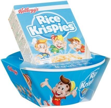 Rice Krispies Original Kelloggs Breakfast - Juego de cuencos para cereales con caja pequeña: Amazon.es: Hogar