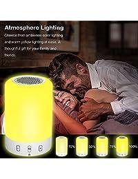Altavoces Bluetooth estéreo inalámbrico Subwoofer Altavoz Lámpara táctil Smart cambia de color luz nocturna altavoz Bluetooth portátil