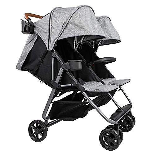 Twin+ Luxe (Zoe XL2) - Everyday Twin Stroller - Luxury Double Umbrella Stroller