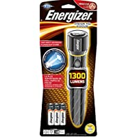 Energizer Alkaline 1300-Lumen LED Handheld Flashlight with Battery Included (Black) + $5 Lowes GC + $5 Gift Card
