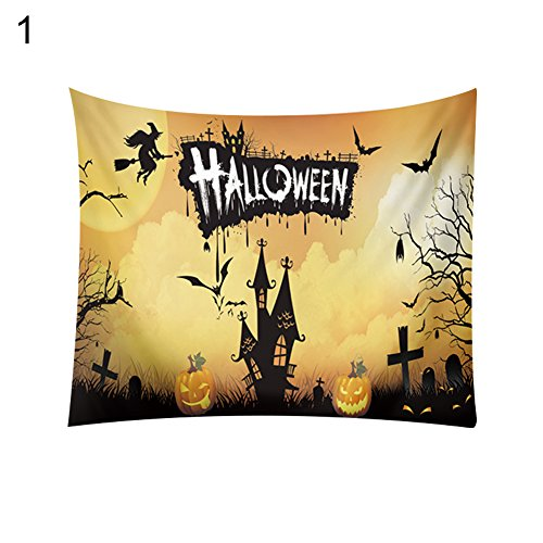 856store Clearance Sale Halloween Theme Hanging Tapestry Beach Towel Blanket Home Living Room Decor ()