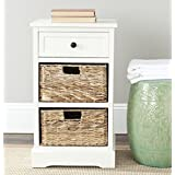 Safavieh American Home Collection Newburgh Storage Side Table, Distressed Cream