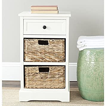 High Quality Safavieh Home Collection Carrie Distressed Cream Side Storage Side Table