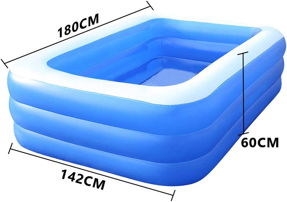 Garden Backyard JJggsi4 Family Inflatable Swimming Pool Lounge Pool Easy Sets for Summer Water Party Full-Sized Kiddie Pool for Childs Adults Outdoor