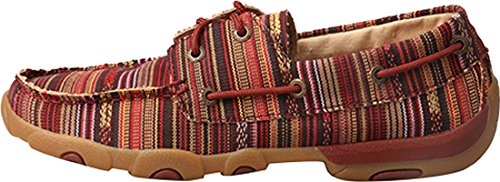 X Moccasins Red Driving Twisted Multi Women��s PqfdOdwS