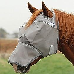 Cashel Crusader Fly Mask with Long Nose - Size: Draft
