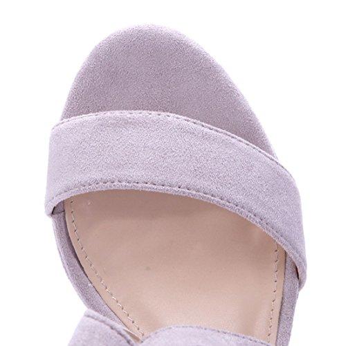 Heels Blockabsatz Schuhe High Sandaletten Damen 12 Schuhtempel24 Sandalen cm Plateausandaletten q1zgnwA