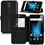 IVSO BLU Vivo XL 2 Case - [View Window] [Stand View] [Full Range Protection] Ultra-thin Super Magic High Quality Folio Stand Case for BLU Vivo XL 2 / BLU Vivo XL2 Phone(Black)