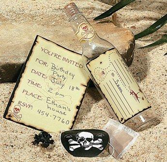 amazon com plastic skull and crossbones invitations in a bottle