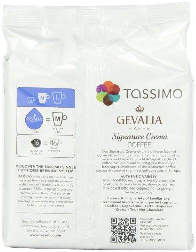Gevalia Signature Crema, 16-Count T-Discs for Tassimo Brewers (Pack of 3)