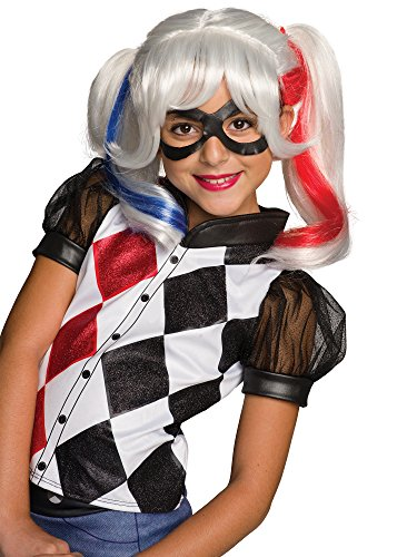 Rubie's Costume Girls DC Super Hero Harley Quinn Wig