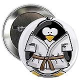 CafePress Martial Arts brown belt pengu Button 2.25' Button