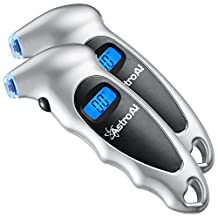 AstroAI Digital Tire Air Pressure Gauge 150 PSI 4 Settings for Car Truck Bicycle with Backlit LCD and Non-Slip Grip (2 Pack)