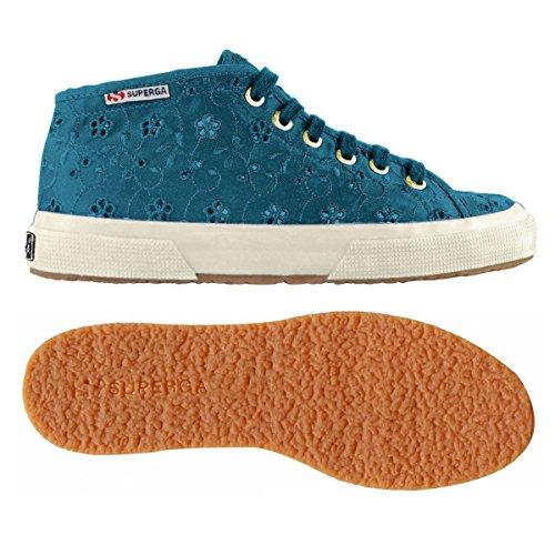 2754 A Collo Superga Alto Donna Ottanio Sneaker Blue sangallosatinw APqqwzp