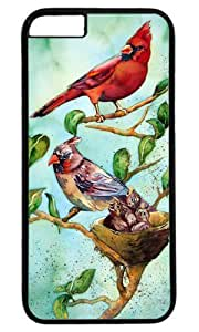 Cardinal Bird Art Painting Masterpiece Limited Design PC Black Case for iphone 6 by Cases & Mousepads