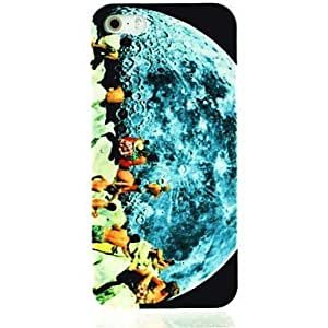 MOM Men on the Moon Pattern Hard Case for iPhone 5/5S