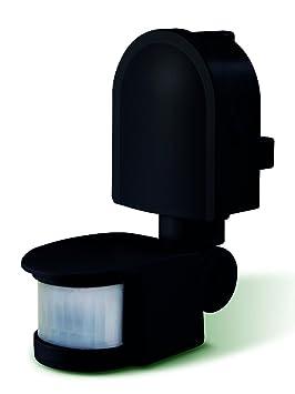 LUCECO LGIP44WSB-01 - Detector de presencia pir negro para montaje en pared multidireccional 180º - pir/lux exterior ip44: Amazon.es: Bricolaje y ...