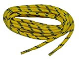 GREATLACES Yellow w/Black Yellow Jacket Kevlar (R) proTOUGH(TM) Boot Shoelaces 2 Pair Pack (60 inch 152 cm, Yellow)