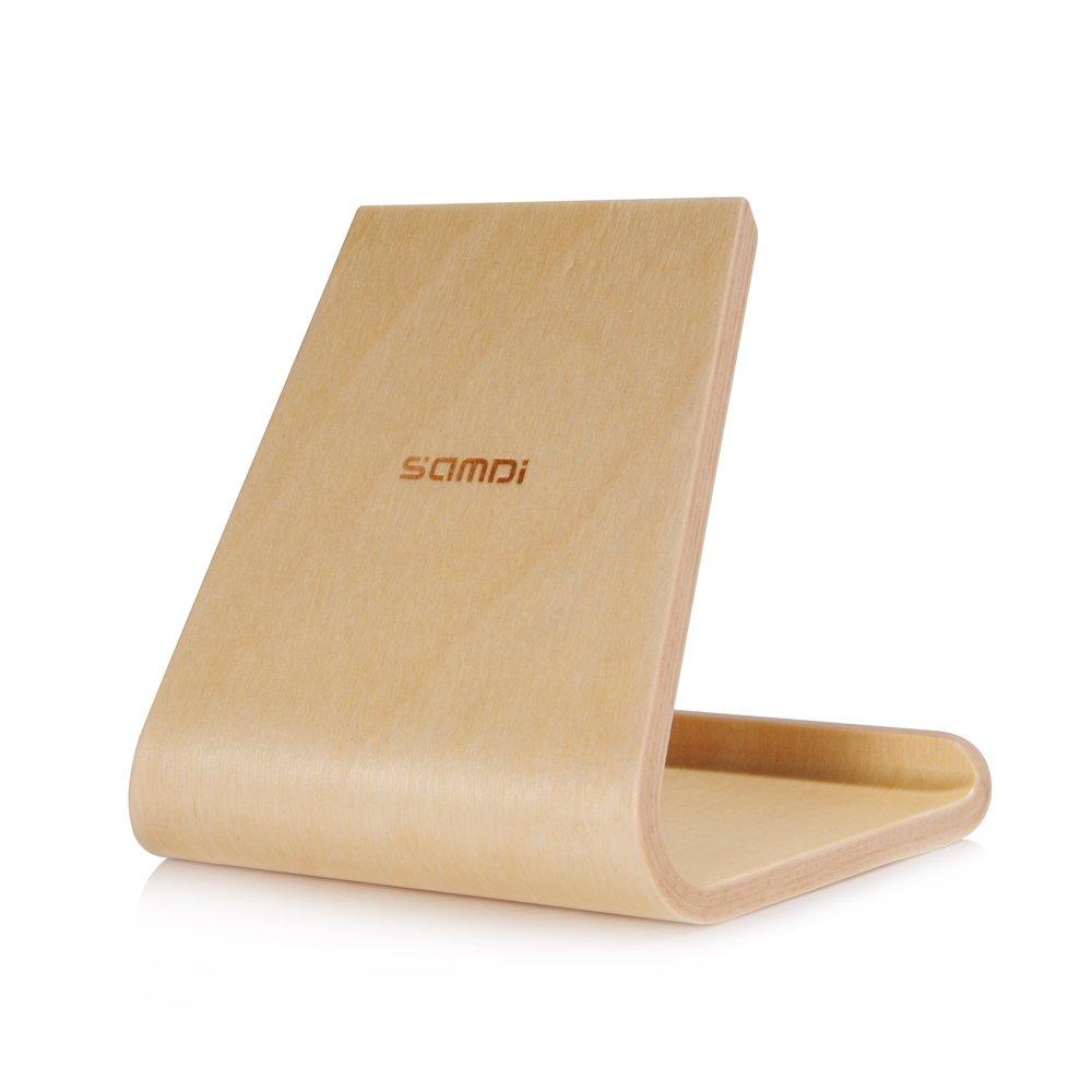 Docooler Samdi Betulla in Legno Supporto per Tablet Phone Dock Station Cradle per iPhone Samsung