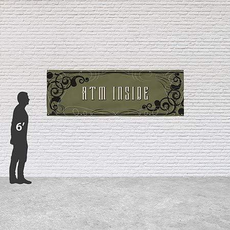 12x4 ATM Inside CGSignLab Victorian Gothic Heavy-Duty Outdoor Vinyl Banner