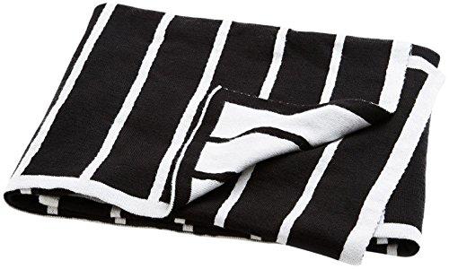 Brooklyn Born Organic Knitted Blanket - Breton Stripe, Black/White, One Size by Brooklyn Born