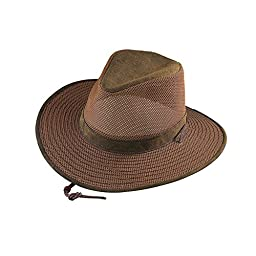 Henschel Aussie Packable Mesh Breezer Hat (Distressed Gold, Large)