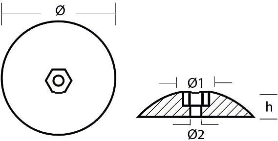 "Tecnoseal Rudder Anode Aluminum 5/"" Diameter #R5AL"
