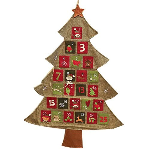 Kayphil Christmas Tree Advent Calendar Countdown Decor Fabric Pockets Kayphil Trading Co. Ltd
