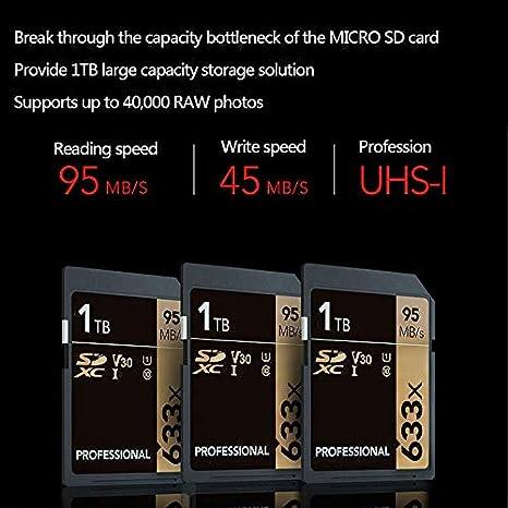Tarjeta SD de 1TB, Profesional 633 x Clase 10 SDHC UHS-II U3 ...