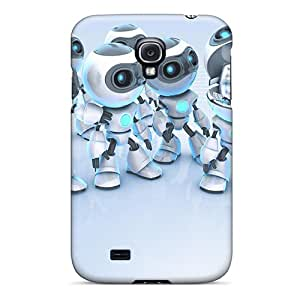 New Style ResalucPacker Robots 3d Premium Tpu Covers Cases For Galaxy S4