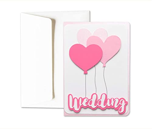 Boda - wedding - Globos - Corazones - Amor - tarjeta de ...