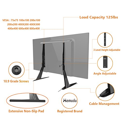 Universal Table Top TV Stand Base VESA Pedestal Mount For