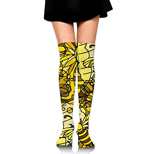 Crowded Bee Women's Knee High Socks Fashion Compression Stockings For Running Sports Soccer Socks Stocking For Women