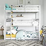 unique bunk beds Dorel Living Phoenix Triple Floor Bunk Bed, White